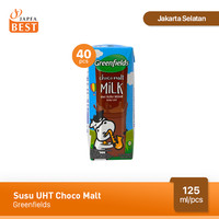 Susu UHT Choco Malt Greenfields 125 ml - Isi 40 pcs
