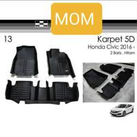 Karpet mangkok 5d mat tipe premium black All New Civic Turbo