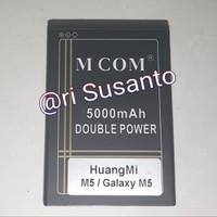 Baterai MCOM for HuangMi M5 / Galaxy M5 KF36 Double power 5000mAh