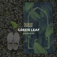 Sajadah Sujud Green Leaf | Sajadah Saku Lipat Anti Air/Traveling