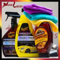 Meguiars Ultimate Wash & Wax +Ult Interior Detailer +AA Leather Gel
