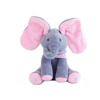 READY Sing & Peek a Boo Elephant Doll Boneka Gajah Cilukba & Nyanyi