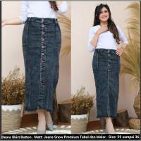 Rok Jeans Panjang Deora Skirt Jeans Stretch .Rok Jeans Snow Panjan