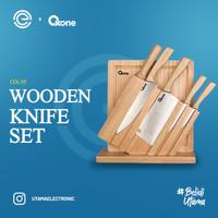 OXONE 7Pcs Wooden Knife & Chop Board Set OX-95