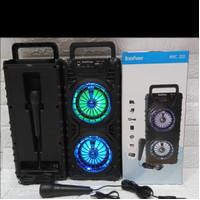 Speaker Bluetooth MKC-232 LED Free Mic karaoke Extra Bass