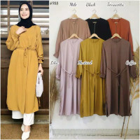 DR988 (NEW HAYDIE Basic color daily long tunic).