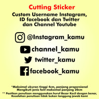 Custom Stiker Social Media Cutting Sticker Kaca Mobil Bodi Motor Helm - Warna Solid