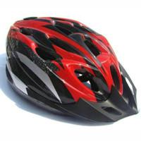 TaffSPORT Helm Sepeda Balap Gunung Lipat MTB Bonus Visor - Merah
