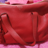 tas wanita ada tali panjang merk fossil original