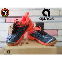 Sepatu Badminton APACS CHUSION POWER 076 Anak - GREY/ORANGE