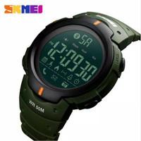 SKMEI 1301 ORIGINAL Jam Tangan Pria Bluetooth Smartwatch - Hijau army