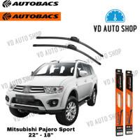 "Wiper Mobil Mitsubishi Pajero Sport 22"" & 18"" Frameless 1 SET Autobacs"