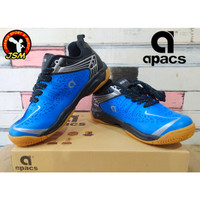 Sepatu Badminton APACS CHUSION POWER 076 Anak - BLUE/BLACK