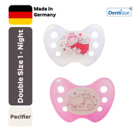 Empeng Orthodontic Dentistar Step 1 (0-6m) Fairy&Cat, Night Time