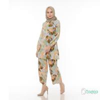 Setelan Muslim Wanita | Madia Set Hijau | Setelan Rayon Viscose