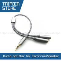 Universal 3.5mm Jack Audio Splitter to 2 Female