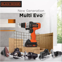 Black+Decker Bor Cordless Mesin Multifungsi 6 Tool Kit (EVO186-B1)