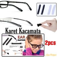 Karet Penahan Kacamata Anti Slip Silicon Rubber Sunglasses 2pcs
