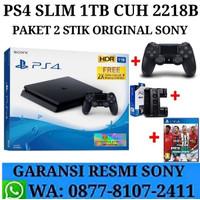 PS4 Slim 1TB CUH 2006B Paket 2 Stik