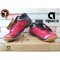 Sepatu Badminton APACS CHUSION POWER 076 Anak - RED/BLACK