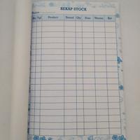 rekap stock online shop