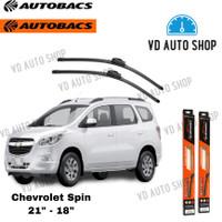 "Wiper Mobil Chevrolet Spin 21"" & 18"" Frameless 1 SET Autobacs"