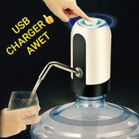 pompa galon DISPENSER ELEKTRIK AWET BATERAI USB FOR GALON BAWAH - Putih