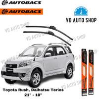 "Wiper Mobil Toyota Rush / Daihatsu Terios 21"" & 18"" Frameless 1 SET"