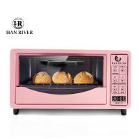 Oven listrik Layar sentuh pintar12L Electric oven multi-fungsi kontrol - Merah Muda