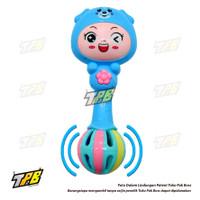 Kerincingan Mainan Bayi Anak Rattle Stick Baby Toys Musik Lampu Boneka - Biru, STANDARD