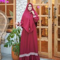 Setelan baju gamis wanita muslim Angela Syar'i Set Ity Crepe Busui XL