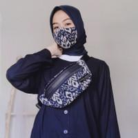 Waist Bag Unisex + Masker 3 Ply Tenun Ikat Dakara Indonesia