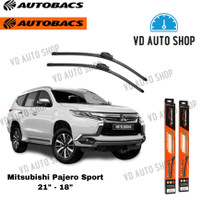 "Wiper Mobil Mitsubishi Pajero Sport 21"" & 18"" Frameless 1 SET Autobacs"
