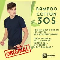 Kaos oblong polos cotton bamboo (katun bambu) - V-neck, S