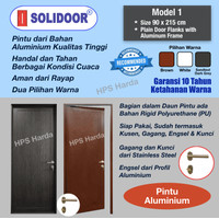 Pintu Aluminium Starmas Solidoor Model 1 (90 x 215 cm)