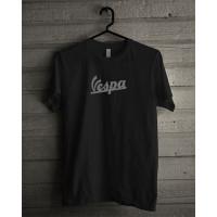 T-shirt Vespa Reflective Premium catton - Hitam, S