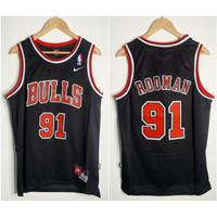 JERSEY BASKET NBA CLASSIC HWC BULLS #91 DENNIS RODMAN HITAM
