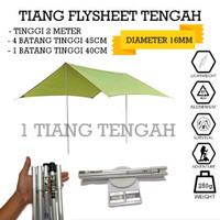 tiang frame flysheet tenda bendera camping alumunium