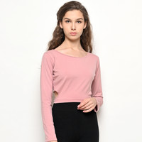 Baju Olahraga Panjang, Fitflo Activewear, Tencel, Elena Crop Pink