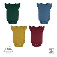 CUIT Bodysuit Ruffle Short Sleeve (Jumper Bayi) - BLOCK COLOR