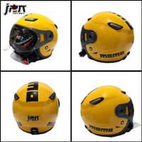 Helm Bogo/Retro helm JPN kawai momo Kaca Pilot Kuning Gloss