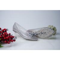 Sepatu Jelly Flat Shoes Wanita - Sepatu Pesta Transparan Glitter - 36