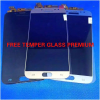 Lcd Samsung J730(Galaxy J7 Pro)AAA Contras Black,Blue,Gold,+Ts Fullse - Hitam