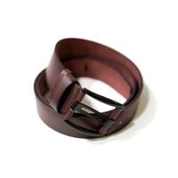 ikat pinggang kulit warna coklat tua ban pinggang belt sabuk kulit B