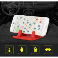 Holder HP silicon / Car Phone Holder Soft Silicone Mount Mobile - Hijau
