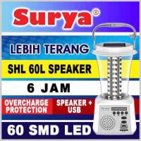 Lampu Emergency Lentera 60 SMD LED + Speaker + USB SHL-60L SURYA