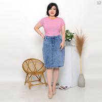 Cosmopolite Rok Midi Jeans Wanita Jumbo Rok Pendek Levis - 687301 - Hitam, 31