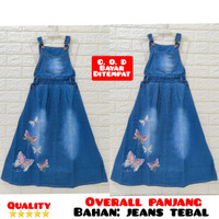 wearpack rok panjang anak perempuan / overall rok panjang jeans 3-12th