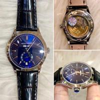 Jam Tangan Patek Philippe Geneve Blue Ring Silver Swiss ETA