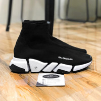 Balenciaga Speed 2.0 Sneaker Black White""